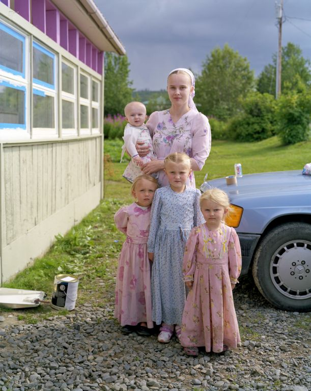 Irina and her children, Nikolaevsk, AK, 2008